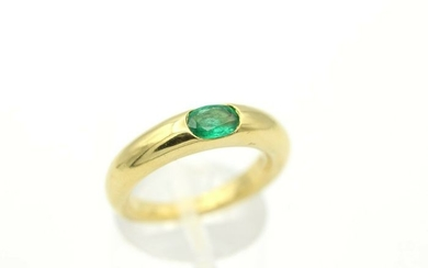 Wempe - 18 kt. Yellow gold - Ring - 0.30 ct Emerald