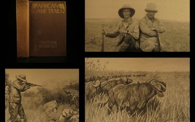 1910 1ed Theodore Roosevelt Illustrated Africa Big Game