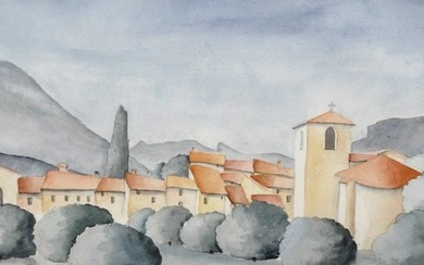 20th Century Italian School. A Tuscan Landscape, with a