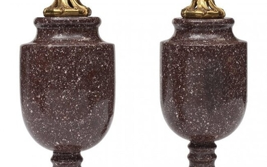 61098: A Pair of French Louis XVI-Style Bronze Mounted