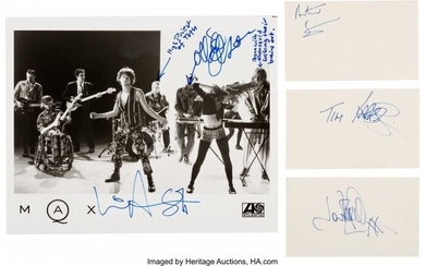89898: INXS Autograph Collection. A collection of signa