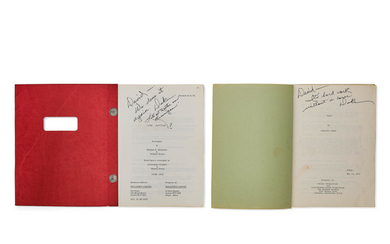 A John Wayne-signed and inscribed pair of screenplays of McQ and Brannigan