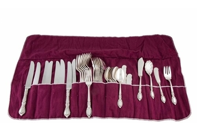 A MODERN USA STERLING SILVER EIGHT PIECE CUTLERY SET, by Ree...