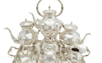A Mexican sterling silver tea and coffee set