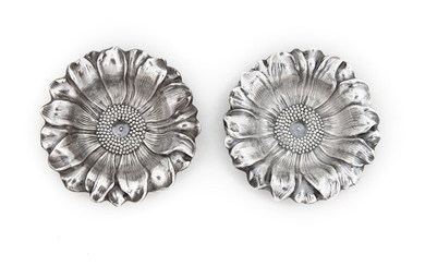 A Pair of Portuguese Silver Salt Cellars