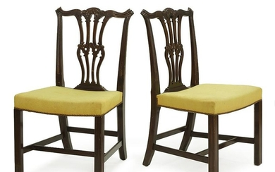 A Set of Four Georgian Style Mahogany Side Chairs.