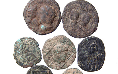 A group of Byzantine & Seljuk bronze coins