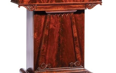 American Classical Carved Mahogany Mixing Table