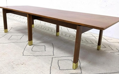 American Modern Walnut Platform Base Bench Coffee Table