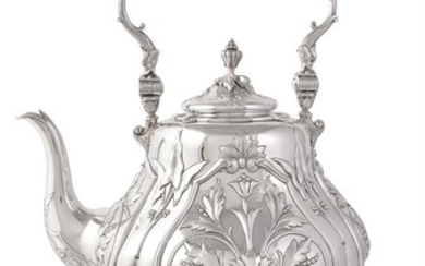 An Austro-Hungarian silver baluster five piece tea and coffee service by Vinzenz Mayer's Sohne