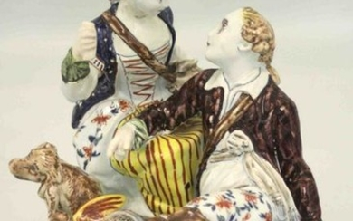 An early 18th century Dutch delft figurine of an amour