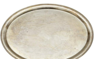 An oval Serving Platter from a Silver Service