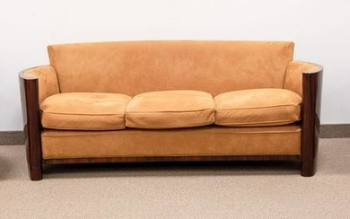 Art Deco Style Sofa and Club Chairs