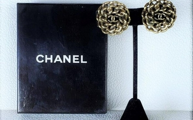 Authentic Chanel 60's Ear Ring Clips