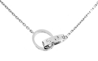 Cartier Love Ring Pendant Necklace