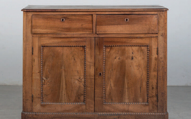 Chest of drawers with two doors, Basque made of walnut wood.