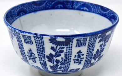 Chinese Blue & White Porcelain Tea Bowl