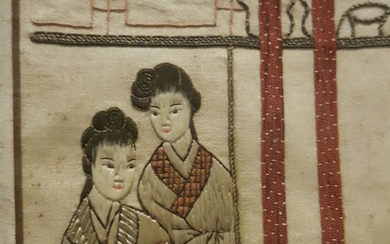 Chinese silk embroidery, old to ancient.
