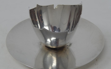 Christopher Dresser Design Victorian Silver Egg Cup in The F...