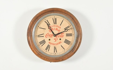 Coca Cola wall mount clock, E. Ingraham, Bristol CT.