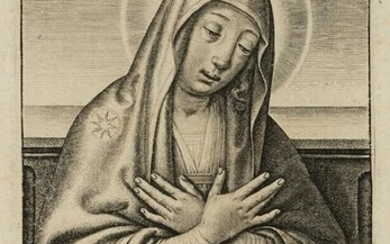 Devotional picture with praises of Mary, Magnificat