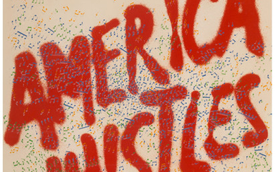 Ed Ruscha (b. 1937), American Whistles, from American the Third Century (1975)