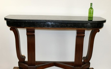 Empire style marble top console table