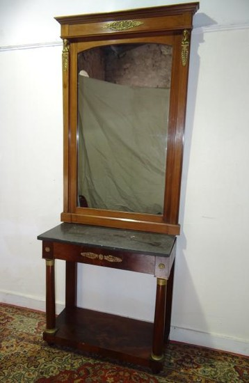 FRENCH EMPIRE STYLE CONSOLE AND MIRROR