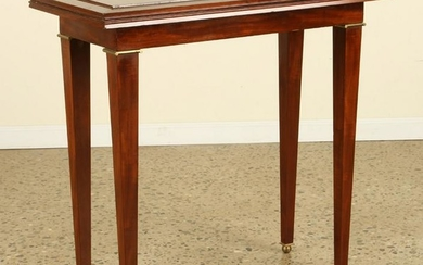 FRENCH MAHOGANY FLIP TOP CONSOLE TABLE DOMINIQUE
