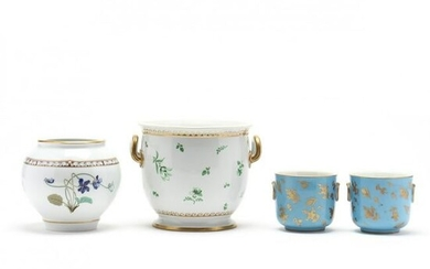 Four French Porcelain Cachepots