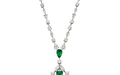 GRAFF EMERALD AND DIAMOND NECKLACE