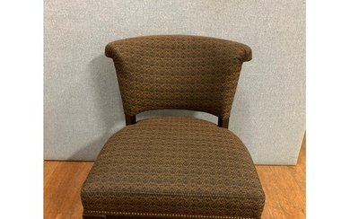 Good quality upholstered parlour chair.
