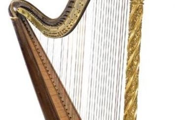 Harp by Sebastian and Pierre Erard with patent number