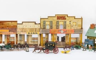 Large Group of Vintage Western Themed Toys. Including