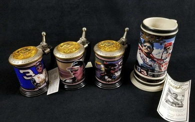 Lot of 4 Dale Earnhardt Collectible Tankards