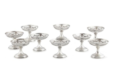 Nine American sterling silver compotes Wm. B. Durgin Co.,...