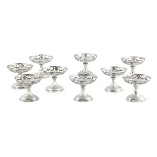 Nine American sterling silver compotes, Wm. B. Durgin