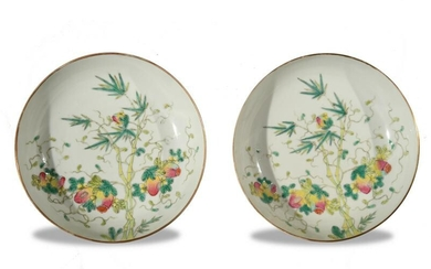 Pair of Chinese Imperial Plates, Late 19th Century