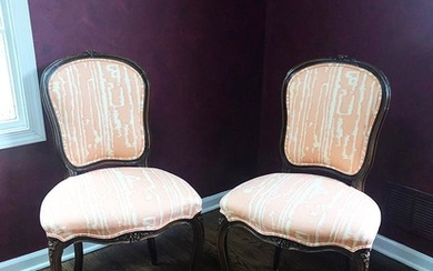 Pair of Louis XV Style Side Chairs, RA7A