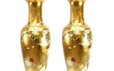 Pair of Monumental Size Chinese Vases