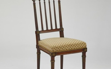 Sheraton style brass mounted side chair