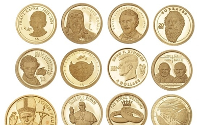 """Small lot consisting of gold coins from the series """"The World's Smallest Gold Coins"""", etc., in total 12 pcs, Au, 6.85 g 999/1000"""