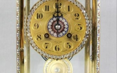 Theodore Starr French Crystal Regulator Mantle Clock
