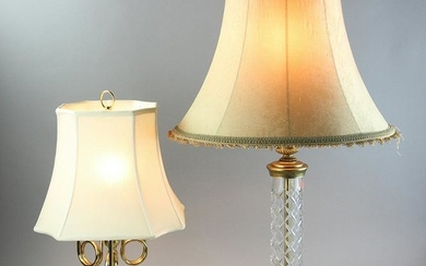 Two Lamps, Waterford and English Style Brass