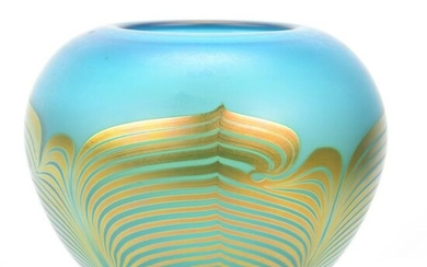 "Vase, Contemporary Art Glass Signed ""Correia"""