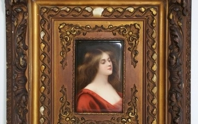 Wagner Continental Antique Lady Painted Plaque