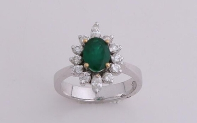 White gold ring, 750/000, with diamond and