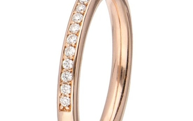 14 kt. Pink gold - Ring - 0.18 ct Diamond