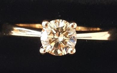 14 kt. Yellow gold - Ring - 0.68 ct Diamond
