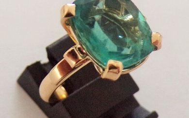 18 kt. Gold, Yellow gold - Ring - 5.90 ct Fluorite